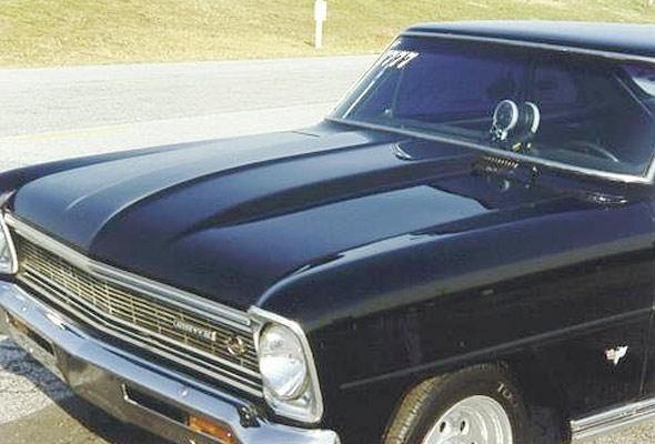 Chevy Nova Hood 1966-1967, Cowl, 2